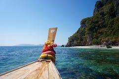 Sulla barca del longtail Fotografia Stock Libera da Diritti