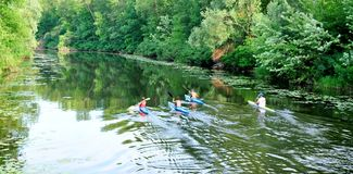 Sulla canoa Fotografia Stock Libera da Diritti