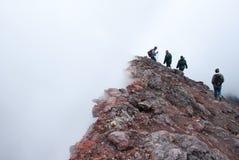 Sulla cima del vulcano di Etna in Sicilia Fotografia Stock Libera da Diritti