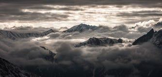 Sulla cima di una montagna georgia Fotografie Stock