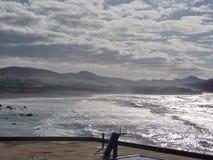 Sulla costa di Ribeira grande, sao Miguel, Azzorre Immagine Stock