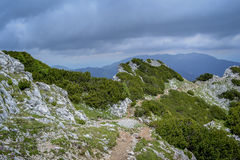 Sulla cresta della montagna fotografia stock