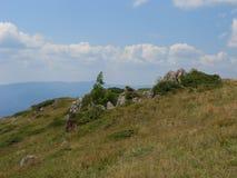 Sulla cresta di vecchia montagna Immagine Stock