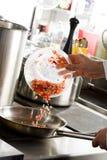 Sulla cucina professionale Fotografie Stock