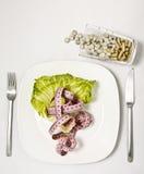 Sulla dieta Fotografia Stock Libera da Diritti