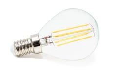 sulla lampada bianca del LED Immagine Stock
