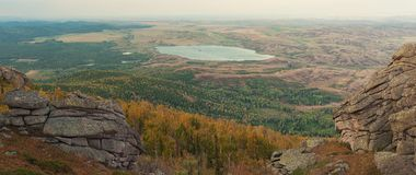Sulla montagna di Sinyukha Fotografie Stock