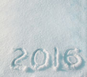 2016 sulla neve Fotografia Stock Libera da Diritti
