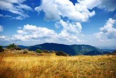 Sulla parte superiore della montagna Immagine Stock Libera da Diritti