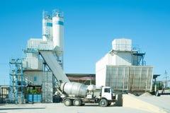 Sulla pianta dei conglomerati per la produzione di cemento Immagine Stock Libera da Diritti