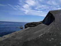 Sulla riva dell'oceano Pacifico immagini stock