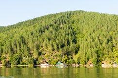 Sulla riva della Moravia occidentale in Serbia Fotografia Stock