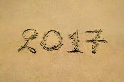 2017 sulla sabbia Immagine Stock Libera da Diritti