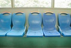Sulla sedia del bus Fotografia Stock