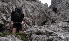 Sulla sierra strascichi nelle alpi di Julian Immagine Stock Libera da Diritti