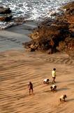 Sulla spiaggia Immagini Stock Libere da Diritti