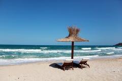 Sulla spiaggia Fotografie Stock