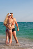 Sulla spiaggia fotografie stock libere da diritti