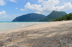 Sulla spiaggia Fotografia Stock Libera da Diritti