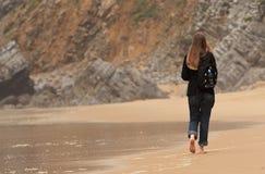 Sulla spiaggia Fotografia Stock