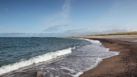 Sulla spiaggia in Agger denmark archivi video