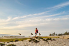 Sulla spiaggia all'isola di Olchon Immagini Stock Libere da Diritti