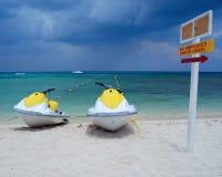 Sulla spiaggia in Cozumel Fotografie Stock
