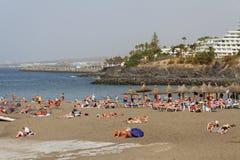 Sulla spiaggia di Tenerife Fotografia Stock Libera da Diritti