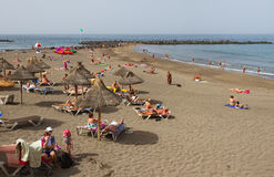 Sulla spiaggia di Tenerife Immagini Stock Libere da Diritti