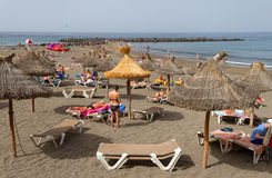 Sulla spiaggia di Tenerife Fotografia Stock