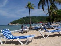 Sulla spiaggia in Haiti fotografia stock