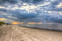 Sulla spiaggia in Jurmala Immagini Stock Libere da Diritti
