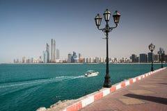 Sulla spiaggia nell'Abu Dhabi Immagini Stock Libere da Diritti