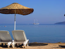 Sulla spiaggia - tacchino Fotografie Stock