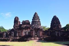 Sulla strada a Angkor: Tempio di Phimai - Tailandia Immagine Stock