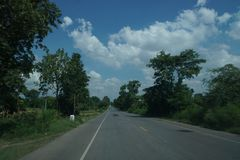 Sulla strada da Nongkhai a Khonkaen, la Tailandia Fotografia Stock