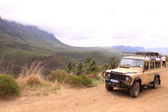 Sulla strada nel Lesoto Fotografia Stock