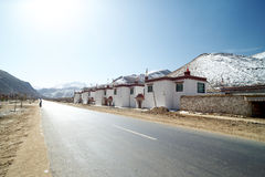 Sulla strada, Nyingchi, Tibet Fotografia Stock Libera da Diritti