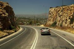 Sulla strada principale di Creta Immagini Stock Libere da Diritti