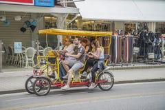 Sulla vacanza in Lido di Jesolo (intorno alla città) Fotografie Stock Libere da Diritti