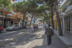 Sulla vacanza in Lido di Jesolo (intorno alla città) Fotografia Stock Libera da Diritti