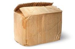 Sulla vecchia scatola di cartone indossata superiore Immagini Stock