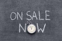 Sulla vendita ora Immagine Stock Libera da Diritti