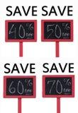 Sulla vendita Svaings Immagini Stock