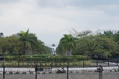 Sulla via di Bandung in Java ad ovest Fotografie Stock Libere da Diritti