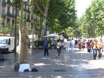 Sulla via di Barcellona Immagini Stock Libere da Diritti