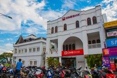 Sulla via Strada nella città di Kuching sarawak borneo Fotografia Stock