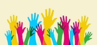 Sulla vostra mano. Fotografie Stock Libere da Diritti