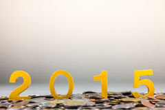 2015 sulle monete Immagini Stock