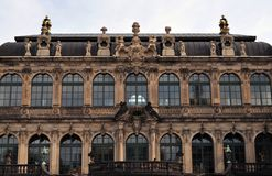 Sulle pareti di Dresda Zwinger Fotografie Stock Libere da Diritti